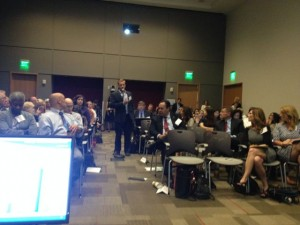View from the panel of ½ of the audience of advocates, families, researchers, and industry