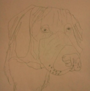 RareArtist 2015 - Therapy Dog - 13 yr Cody Spader