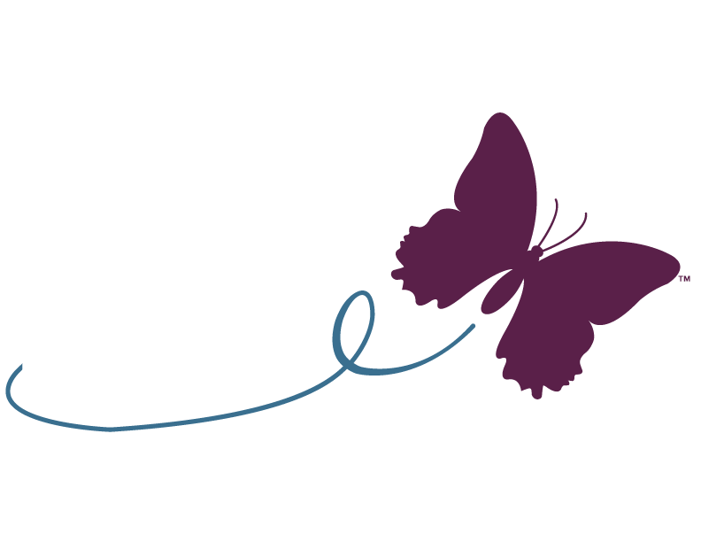 MLD Foundation butterfly logo with tail